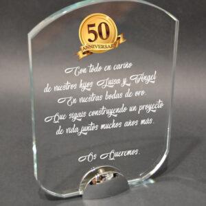 placa cristal personalizada