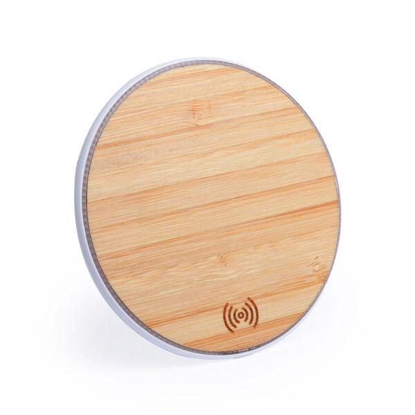 cargador inalambrico acabado madera