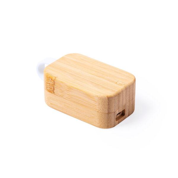 auricular en estuche de madera