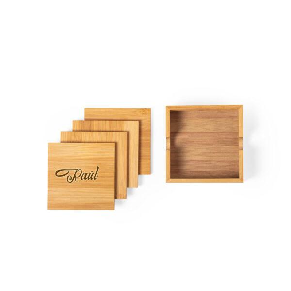 posavasos personalizado en madera
