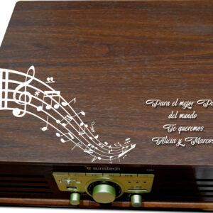 tocadiscos de madera personalizado